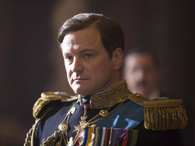 In this film publicity image released by The Weinstein Company, Colin Firth portrays King George VI in &quot;The King's Speech.&quot; (AP Photo/The Weinstein Company, Laurie Sparham) ORG XMIT: NYET301