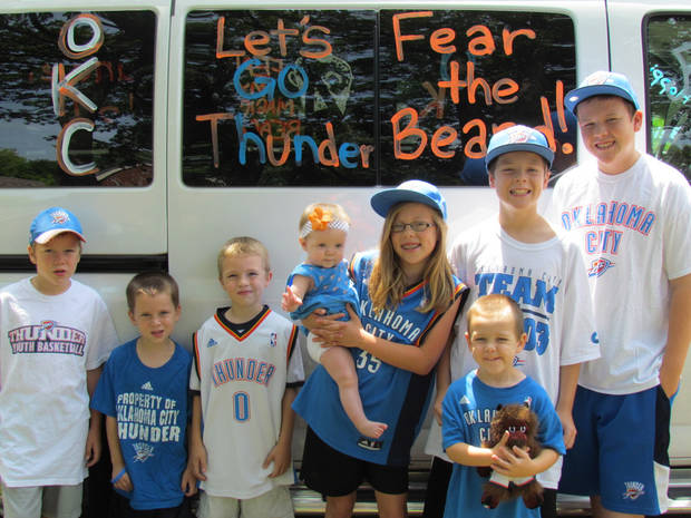 My 8 Thunder fans and our sweet ride! :)