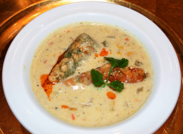Chef Christine Dowd's corn chowder with shrimp-stuffed jalapeno was one of Odyssey de Culinaire's brightest stars.