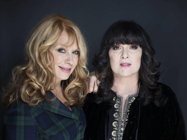 Sisters Nancy, left, and Ann Wilson from Heart will be inducted into the Rock and Roll Hall of Fame at a ceremony held in Los Angeles on April 18, 2013.  AP PHOTO