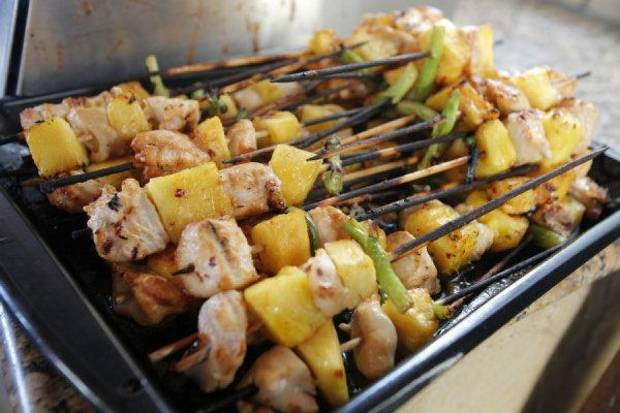 Skewers during the Art of Barbecue, a part of Open Flame at American Propane in Oklahoma City.  Photo by Garett Fisbeck, The Oklahoman <strong>Garett Fisbeck</strong>