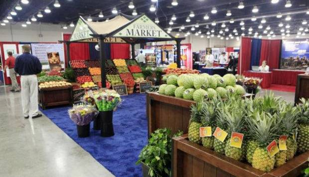 The booth for the Associated Wholesale Grocers of Oklahoma City at the Oklahoma Super Trade Show, held Wednesday at the Cox Convention Center. <strong>PAUL B. SOUTHERLAND - PAUL B. SOUTHERLAND</strong>