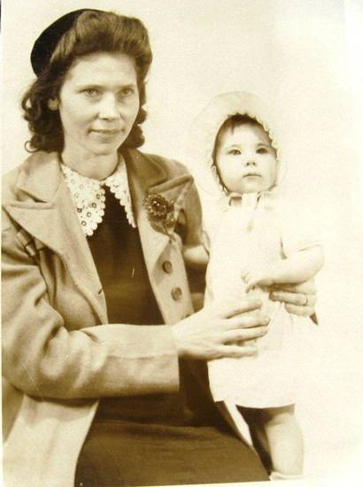 Betty Pannell's mother holds her in this photo taken in 1945. Photo provided. <strong></strong>