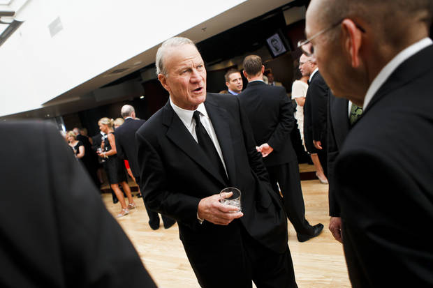 Former OU coach Barry Switzer at the Jim Thorpe Association and Oklahoma Sports Hall of Fame Museum on Tuesday, Aug. 16, 2011. 2011 Oklahoma Sports Hall of Fame inductees include Boone Pickens, John Starks, Crystal Robinson and Lucious Selmon. Photo by Zach Gray, The Oklahoman