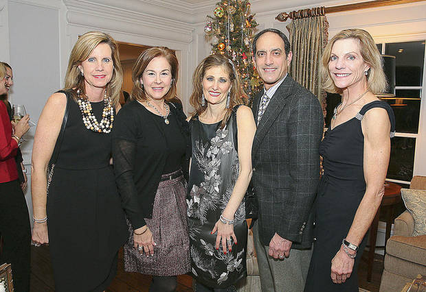 Julie Geurin, Sallie Trimble, Jennifer and Paul Shadid, Kathy Funston.