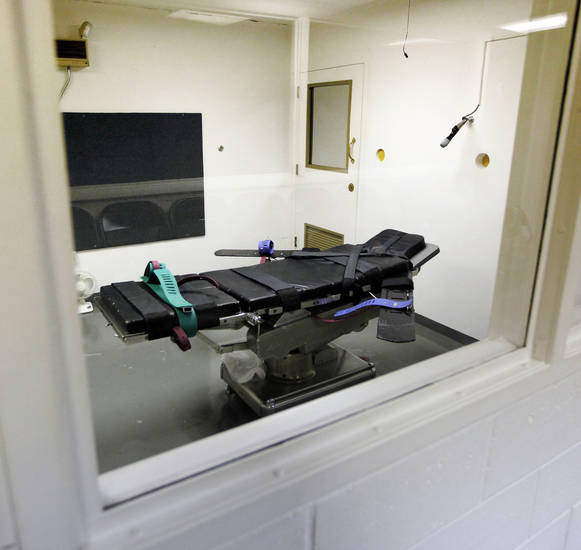 The death chamber on H Unit at the Oklahoma State Penitentiary in McAlester, Okla., Wednesday, Dec. 7, 2011. Photo by Nate Billings, The Oklahoman