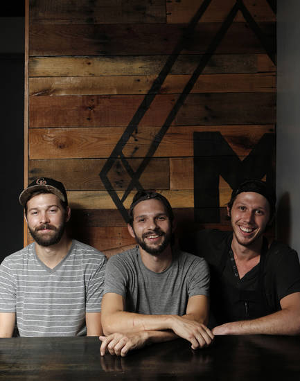 Cody Rowan, John Harris, and Joey Morris recently opened The Mule in the Plaza District of Oklahoma City. <strong>Garett Fisbeck - THE OKLAHOMAN</strong>