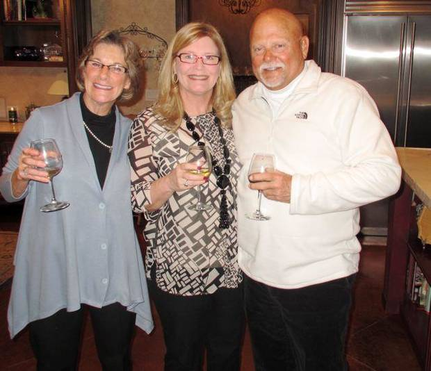 Marion Vaughn, Ann Osborne and Bill Spielberger were at the party for Amy Spielberger and Will Rowntree who will be married in June in Mexico. (Photo provided).