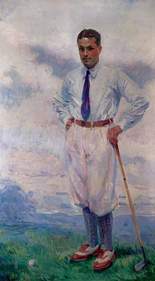 "Wayman Adams' (American, 1883-1959) 1926 oil on canvas portrait of ""Bobby Jones"" is featured in new special exhibition ""The Art of Golf"" at the Oklahoma City Museum of Art. Photo provided. <strong></strong>"
