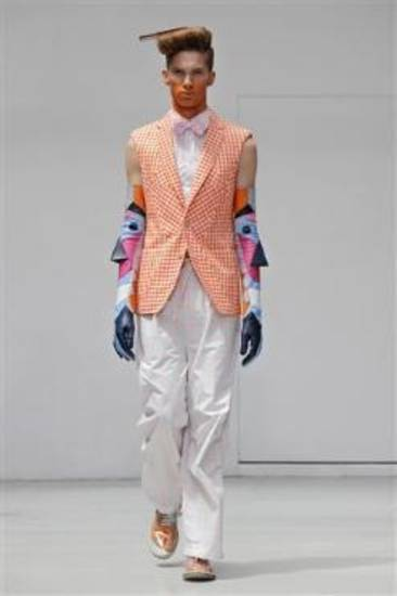 From Walter Van Beirendock's spring/summer collection for 2012 in Paris.