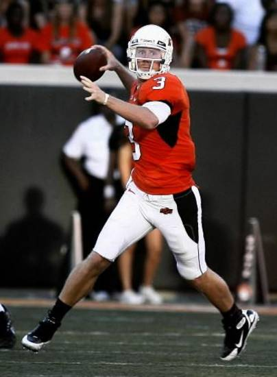 Brandon Weeden is slowing coming along as a member of the OSU golf squad.