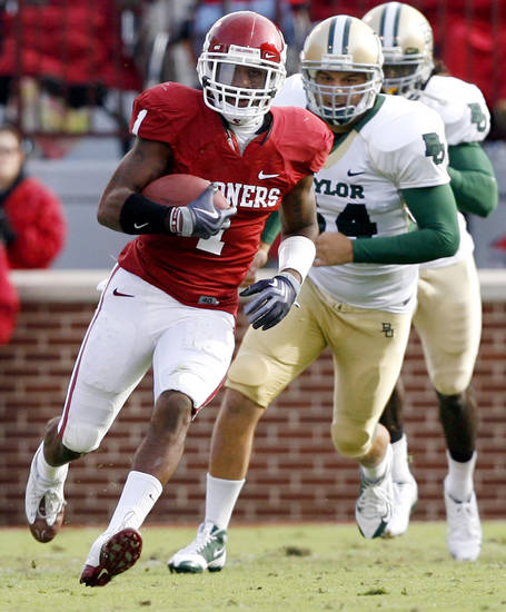 Dominique Franks also returned kicks for the Sooners this season. Photo by Chris Landsberger, The Oklahoman
