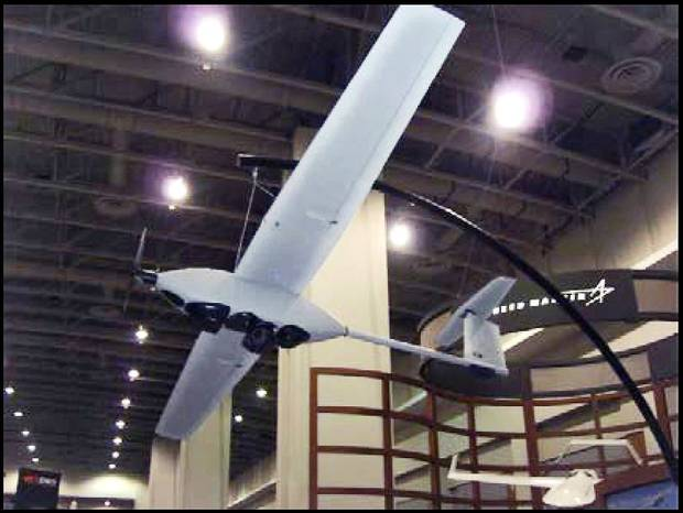 This Lockheed Martin Stalker is representative of drones being tested for civilian uses near Fort Sill. Lockheed Martin Photo