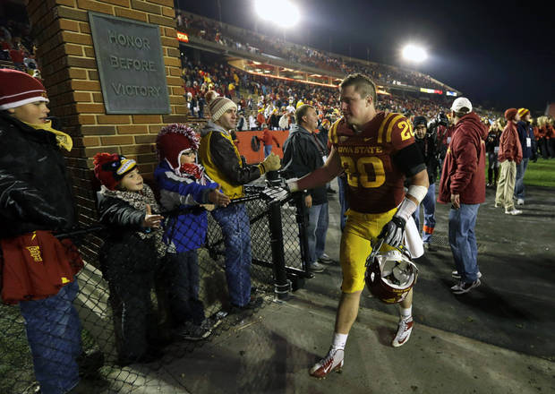Iowa State senior linebacker Jake Knott is out for the season, beginning with this weekend's home game against Oklahoma. AP PHOTO