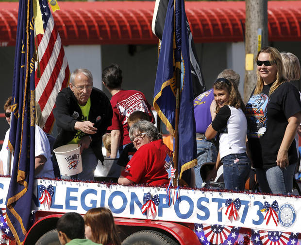 American Legion Post 73 float in the Armed Forces Day parade in Del City, Saturday morning,  May 11, 2013. Photo  by Jim Beckel, The Oklahoman.