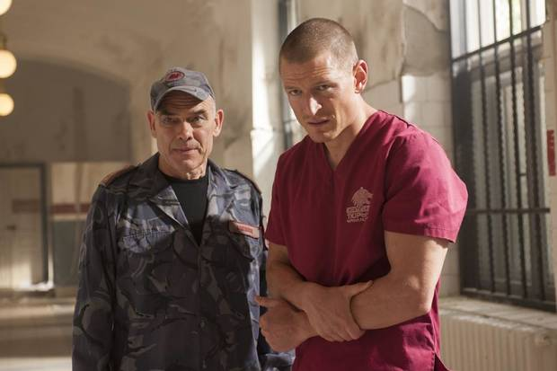 "Peter Guiness (l.) and Philip Winchester (r.) in Cinemax's hit action series ""Strike Back."" - Photo by Liam Daniel/Cinemax"