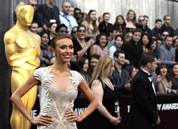 Giuliana Rancic arrives at the 84th Academy Awards on Sunday, Feb. 26, 2012, in the Hollywood section of Los Angeles. (AP Photo/Matt Sayles) ORG XMIT: OSC107