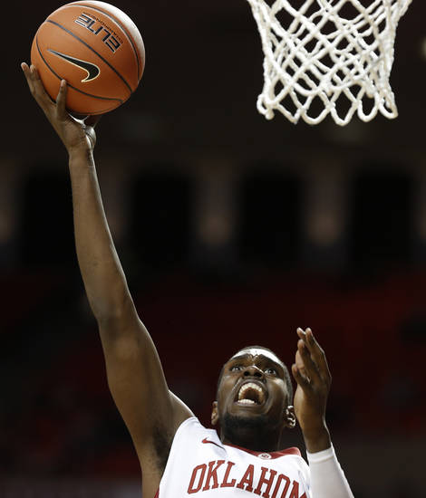 Oklahoma's Andrew Fitzgerald (4) takes a shot during a men's college basketball game between the University of Oklahoma and the University of Louisiana-Monroe at the Loyd Noble Center in Norman, Okla., Sunday, Nov. 11, 2012.  Photo by Garett Fisbeck, The Oklahoman