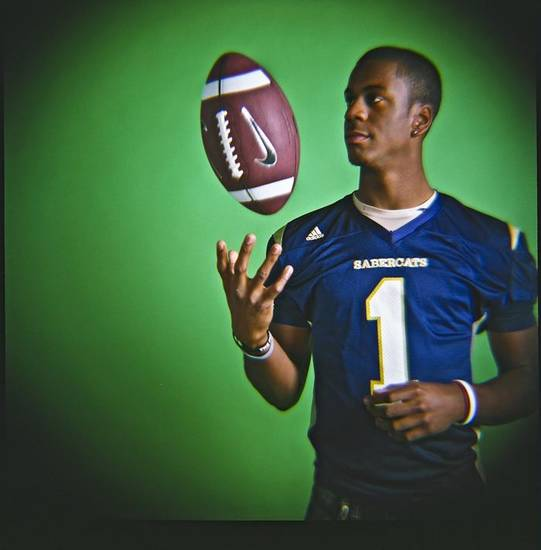 HIGH SCHOOL FOOTBALL / ALL CITY MUG SHOTS:  Julian WIlson of Southmoore High School on Monday, Dec. 14, 2009, in Oklahoma City, Okla.   Photo by Chris Landsberger, The Oklahoman ORG XMIT: KOD