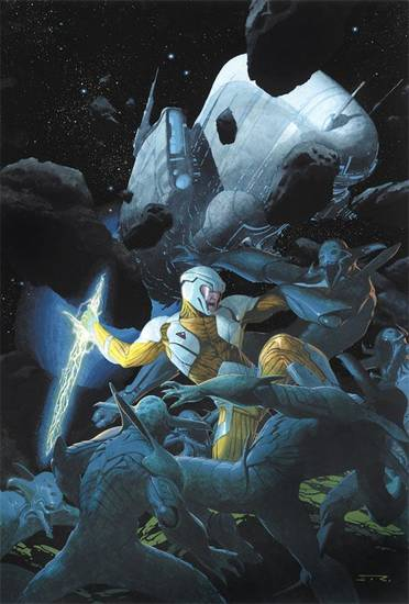 X-O Manowar 1 cover by Esad Ribic.