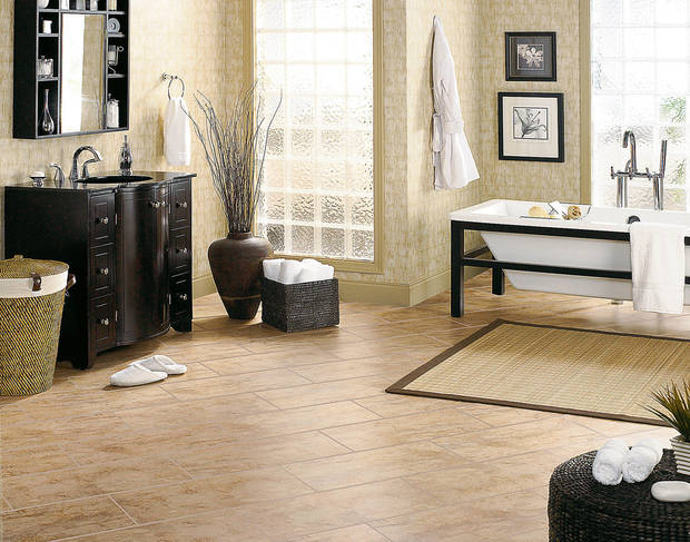 Mannington�s Adura line brings the look of wood, tile or stone in a variety of shapes, sizes, textures and installation options.