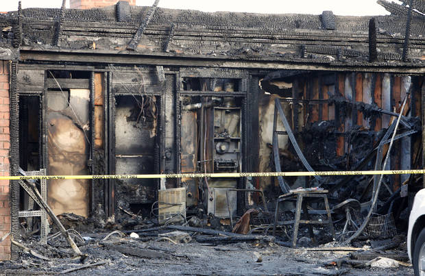 A home damaged by a fatal fire Wednesday is seen at 2705 Richardson Drive in Norman.  Photo by Paul B. Southerland, The Oklahoman <strong>PAUL B. SOUTHERLAND</strong>