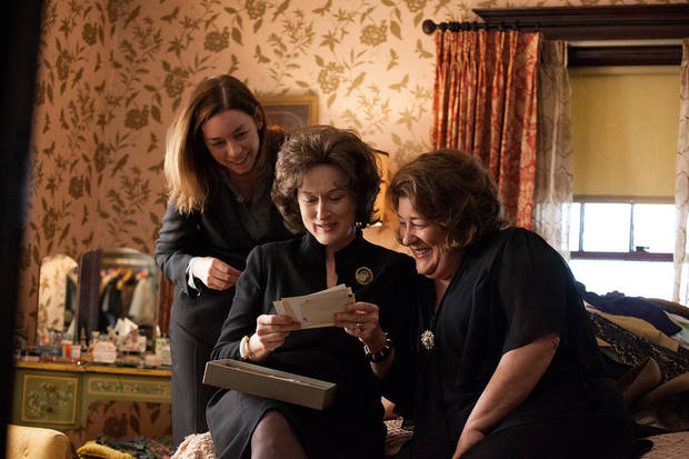 "This publicity image released by The Weinstein Company shows, from left, Julianne Nicholson, Meryl Streep and Margo Martindale in a scene from ""August: Osage County."" (AP Photo/The Weinstein Company, Claire Folger)"