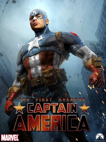 A fan depiction of Chris Evans as Captain America