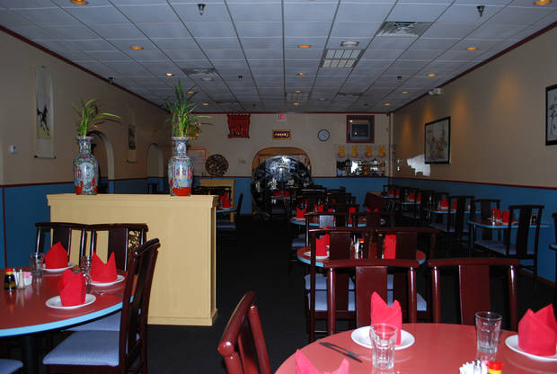 Dining area at Dot Wo restaurant in Edmond.