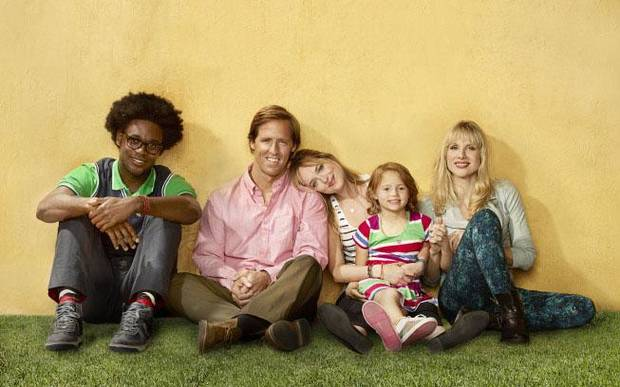 From left, Echo Kellum, Nat Faxon, Dakota Johnson, Maggie Elizabeth Jones, Lucy Punch of &quot;Ben and Kate&quot; - Fox Photo