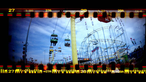 Images from a Lomo Sprocket Rocket taken at the fair, Sunday, Sept. 14, 2014. Photo by Sarah Phipps, The Oklahoman