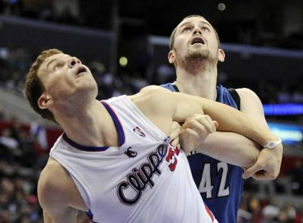 Blake Griffin (left) made the cut. Bu Kevin Love is among the players snubbed by coaches for All-Star reserve selections.