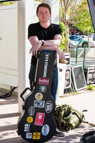 Grammy-nominated singer-songwriter John Fullbright, who grew up and lives in Bearden, poses for a photograph before a show last weekend at the Guthrie Green in Tulsa. Photo provided by Vicki Farmer