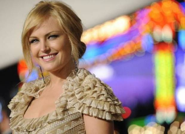 Actress  Malin  Akerman, a cast member in the film &quot;Watchmen,&quot; poses at the premiere of the film in Los Angeles, Monday, March 2, 2009. (AP Photo/Chris Pizzello)
