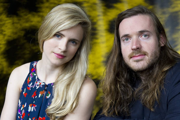"Actress Brit Marling, from the US, left, and filmmaker Mike Cahill, also from the US, pose during a photocall prior to the presentation of the movie ""Another Earth"", during the 64th Locarno International Film Festival, Friday, Aug. 5, 2011, in Locarno, Switzerland. (AP Photo/Keystone, Jean-Christophe Bott) EDITORIAL USE ONLY - GERMANY OUT - AUSTRIA OUT ORG XMIT: LOC108"