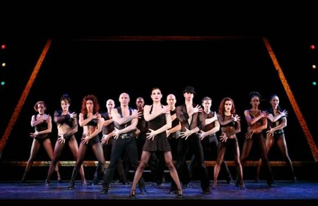 "The cast of ""Chicago"" performs. Photo by Paul Kolnik"