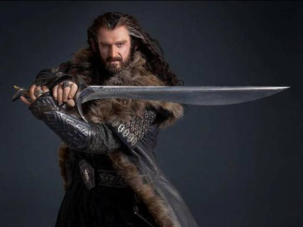 "Richard Armitage plays dwarf leader Thorin Oakenshield in ""The Hobbit: An Unexpected Journey."""