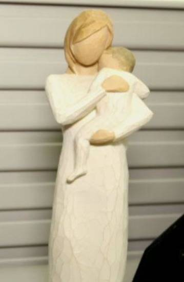 An employee at the Oklahoma Commerce Department reported this figurine fell twice without explanation in October. Photo by Tanner Herriott