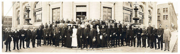 Numerous individuals who participated in the 1889 Land Run gathered for this reunion photo in 1913. Photo provided <strong></strong>