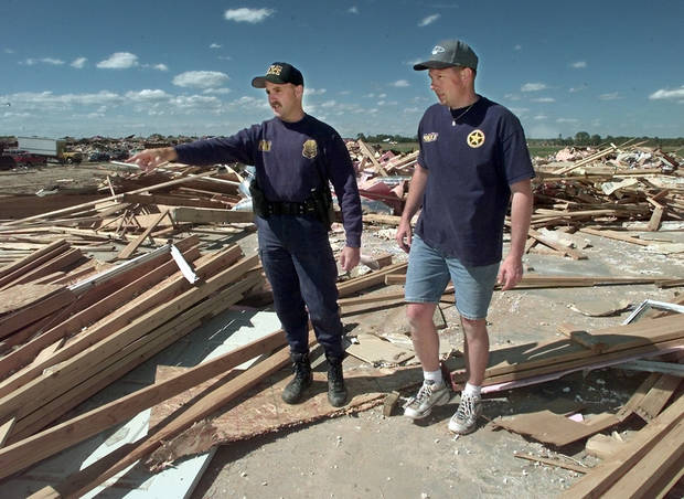 Tornado victims, damage: Oklahoma City Police Officers Tim Hock and Jeff Locke both lost houses in tornado. (this is Hock's house)