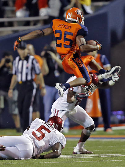 UTEP running back Nathan Jeffery was named Conference USA's Player of the Week for his performance against Oklahoma last week. PHOTO BY CHRIS LANDSBERGER, THE OKLAHOMAN