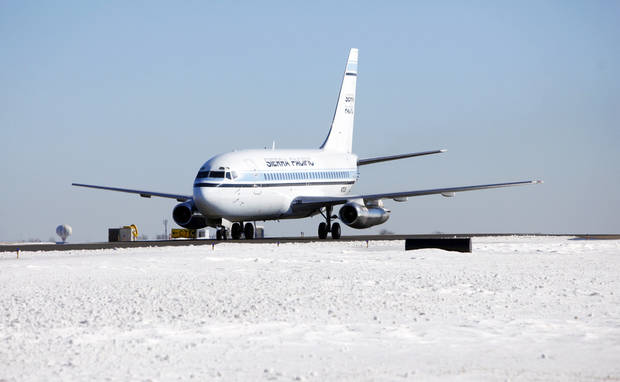 A Sierra Pacific flight taxies down the runway Dec. 28 at Will Rogers World Airport in Oklahoma City.   Photo by Steve Gooch, The Oklahoman