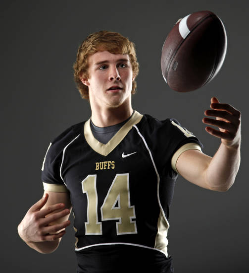 All-State football player Adam Boyd, of McAlester, poses for a photo in Oklahoma CIty, Thursday, Dec. 15, 2011. Photo by Bryan Terry, The Oklahoman