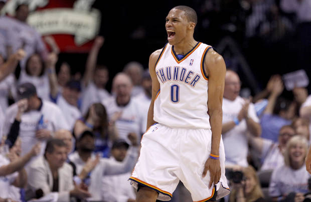 Thunder point guard Russell Westbrook has always played with a chip on his shoulder. PHOTO BY SARAH PHIPPS, THE OKLAHOMAN
