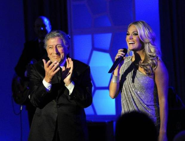 "Tony Bennett and Carrie Underwood perform a duet on ""Blue Bloods."""