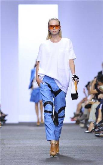 The Rag &amp; Bone Spring 2013 collection is modeled during Fashion Week in New York, Friday Sept 7, 2012. (AP Photo/Stephen Chernin)