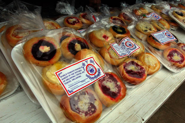 Plenty of kolaces were ready and waiting during the 47th annual Czech Festival Saturday in Yukon. PHOTO BY HUGH SCOTT FOR THE OKLAHOMAN