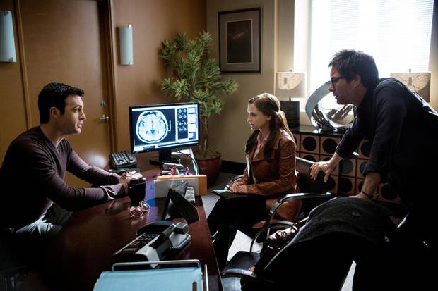 "From left, Reid Scott, Rachael Leigh Cook and Eric McCormack are shown in a scene from ""Perception."" - Photo by Trae Patton/TNT"