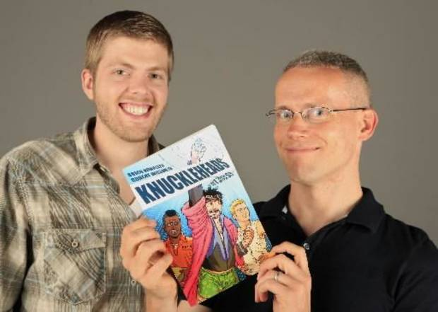 "Robert Wilson IV, left, and Brian Winkeler, right, the creators of ""Knuckleheads."""