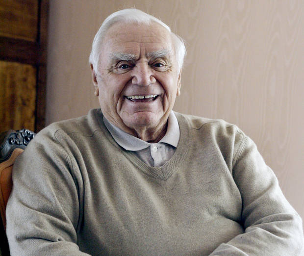 Actor Ernest Borgnine is photographed at his home near Coldwater Canyon in Beverly Hills, Calif. Wednesday, Jan. 17, 2007. His 90th birthday is on Wednesday, January 24.(AP Photo/Damian Dovarganes) ORG XMIT: LA304
